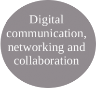 Image of digital communication, networking and collaboration